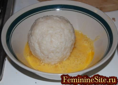 Рисовые шарики рецепт - формируем шарик