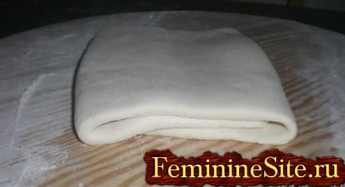 Слоеное тесто рецепт с фото - готовое тесто