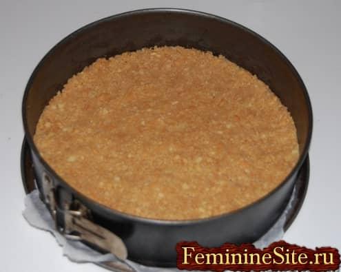 Рецепт чизкейка в домашних условиях - печенья в форму