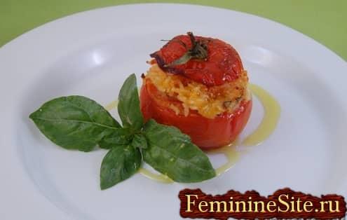 Рецепт фаршированных помидоров рисом с фото
