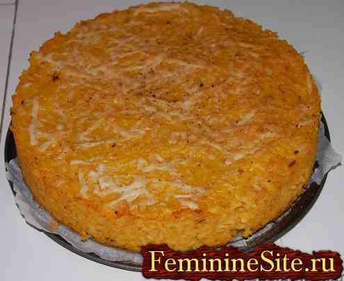 Пудинг из риса и тыквы