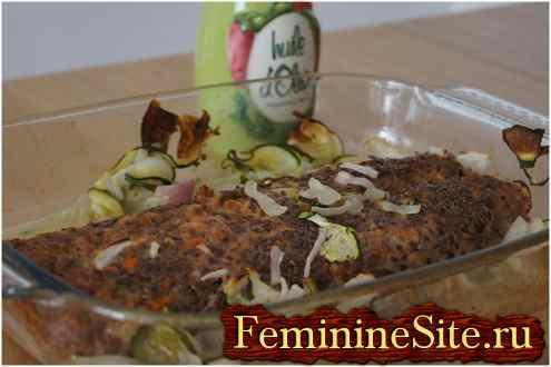 мясной рулет с овощами для - рецепт с фото №1