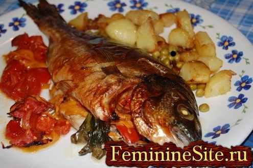 рыба запеченная фаршированная