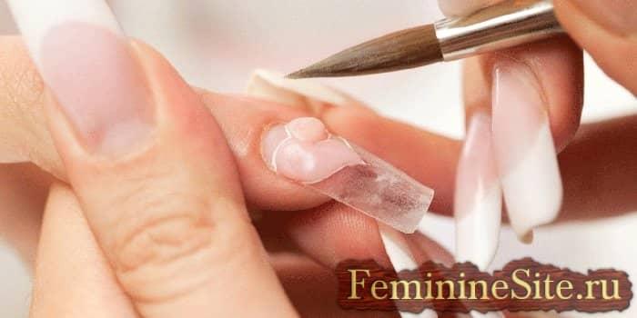 Формирование ногтя акрилом?